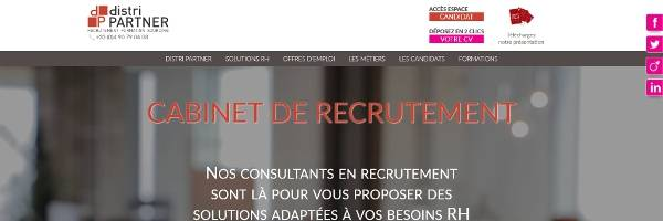 Refonte site internet Distri Partner